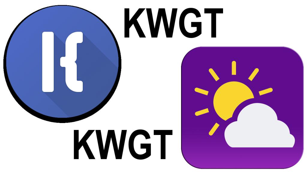Widget pogodowy KWGT.