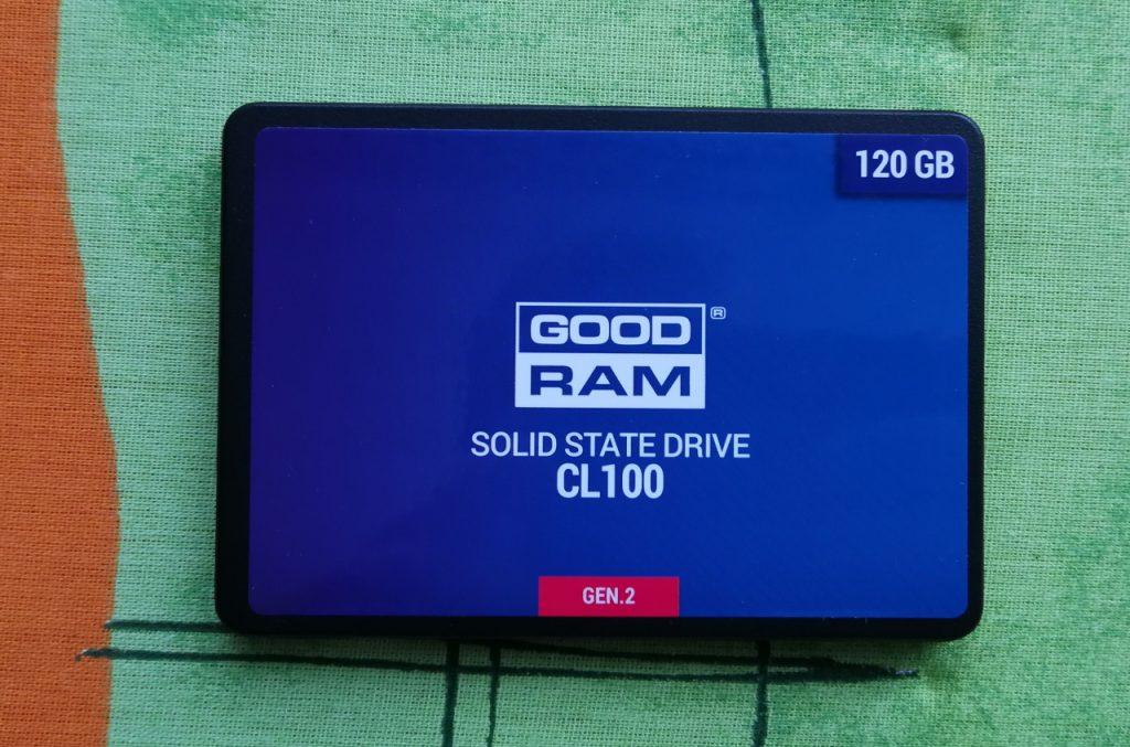 Dysk SSD GOODRAM CL100 120 GB aby przyśpieszyć starego laptopa.