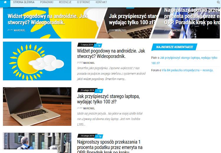 Strona internetowa widziana przez ludzi.