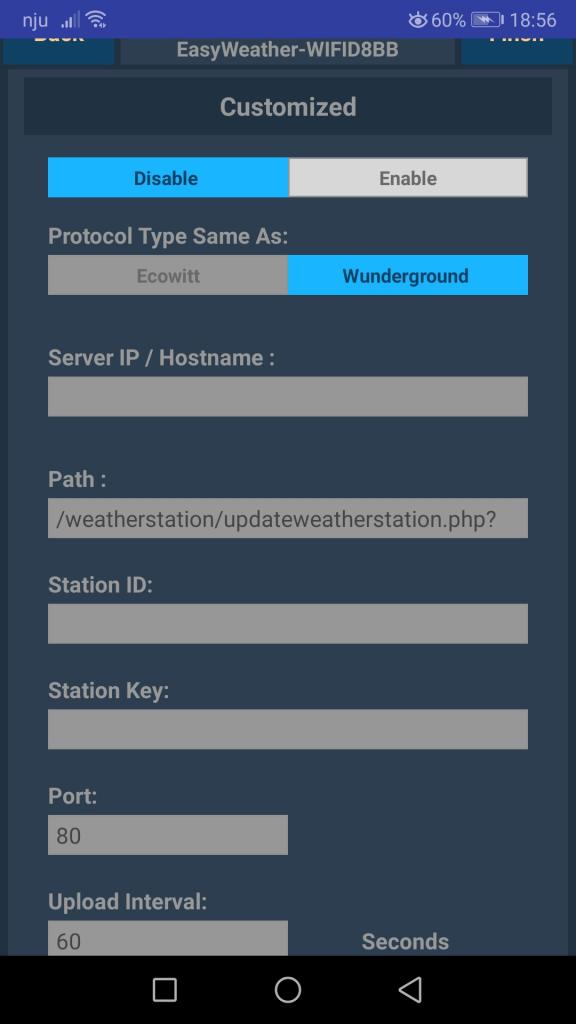 Screen aplikacji ws view serwer użytkownika